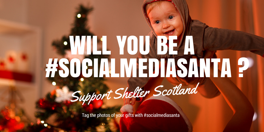 Become a #socialmediasanta and give a homeless child a Christmas to remember